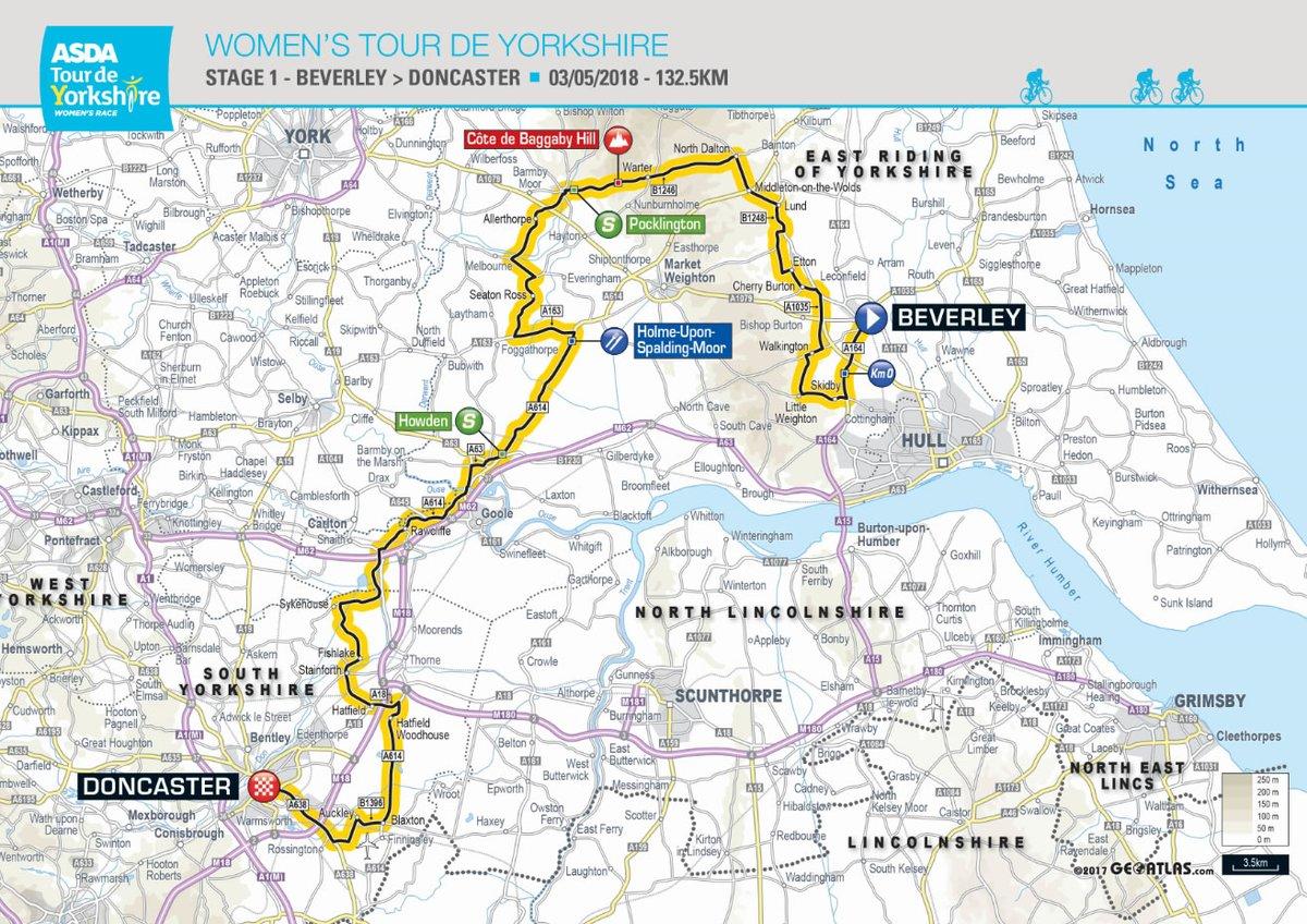 Tour De Yorkshire Map Full route for 2018 Tour de Yorkshire announced | Tour de  Tour De Yorkshire Map