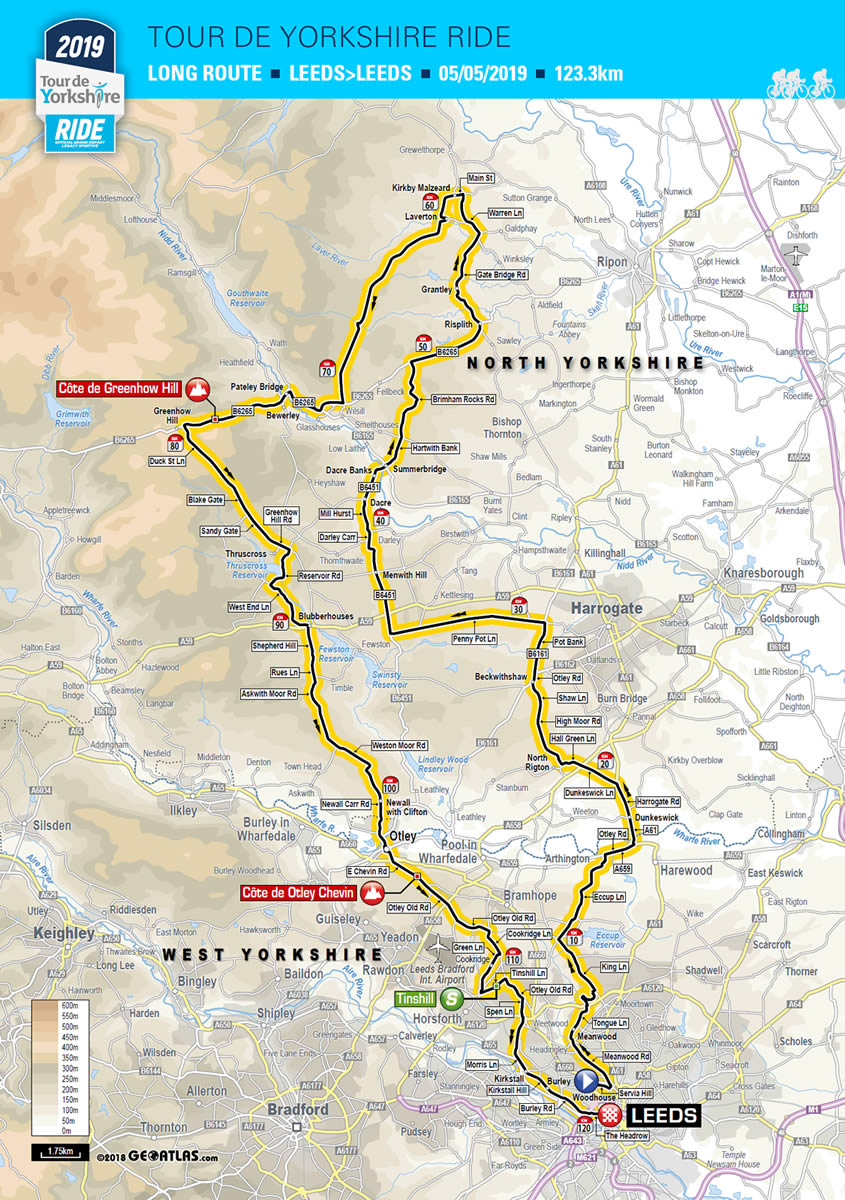 Tour De Yorkshire Map Tour de Yorkshire 2019 | Tour de Yorkshire   2   5 May 2019